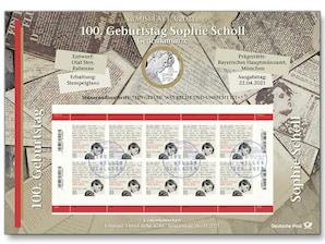 "Numisblatt: ""100. Geburtstag Sophie Scholl"""