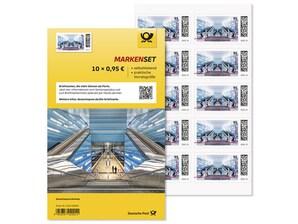 """Markenset """"Überseequartier Hamburg"""", selbstklebende Briefmarke zu 0,95 EUR, 10er-Set"""