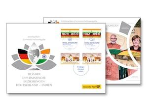 """Philateliebrief """"70 Jahre Diplomatische Beziehungen Indien - Deutschland"""""""