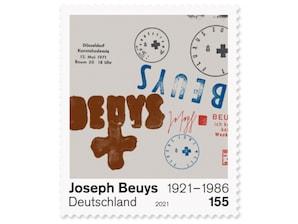 100. Geburtstag Joseph Beuys, nassklebende Briefmarke zu 1,55 EUR, 10er-Bogen