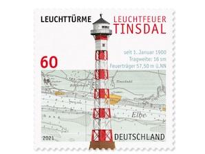 Leuchtturm Leuchtfeuer Tinsdal, Briefmarke zu 0,60 ?, 10er-Bogen