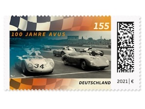 100 Jahre AVUS, Briefmarke zu 1,55 ?, 10er-Bogen