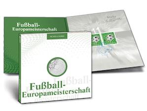 """Numisfolder Münze & Marke: """"Fußball-Europameisterschaft"""""""