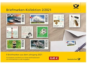 """Steckkarte: """"Briefmarken-Kollektion 2/2021"""""""