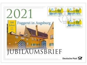 """Jubiläumsbrief """"500 Jahre Fuggerei in Augsburg"""""""
