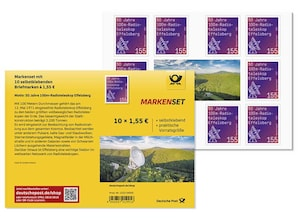 """Markenset """"Radioteleskop Effelsberg"""", Briefmarke zu 1,55 EUR, 10er-Set"""
