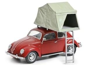 VW Käfer, Dachzelt, rot, 1:43