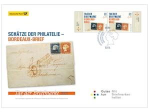 """Ersttagsbrief mit dem Plus: """"Tag der Briefmarke"""" 2021 - Schätze der Philatelie - Bordeaux-Brief"""