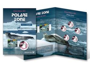 "Numiskarte ""Polare Zone"", Stempelglanz"