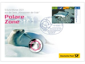 "Numisbrief 5-Euro ""Polare Zone"""