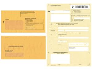 Set Postzustellungsauftrag, 50 Stück