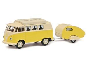 VW T1 Camper mit Anhänger, 1:64