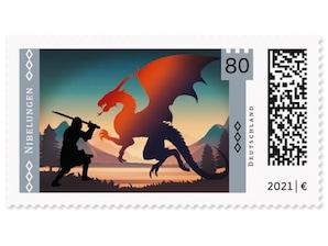 Die Nibelungen, Briefmarke zu 0,80 EUR, 10er-Bogen