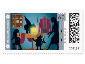 Die Heinzelmännchen, Briefmarke zu 0,60 EUR, 10er-Bogen