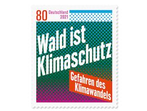Gefahren des Klimawandels / Wald ist Klimaschutz, Briefmarke zu 0,80 EUR, 10er-Bogen