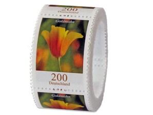 Goldmohn, Briefmarke zu 2,00€, 200er-Rolle