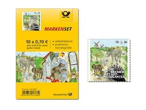 """Bild Markenset """"Bremer Stadtmusikanten - Freunde treffen"""", 10 x 70 ct + 30 ct"""