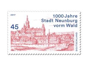 """Bild Briefmarke """"1000 Jahre Stadt Neunburg vorm Wald"""", 45 ct"""