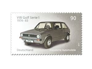 "Bild Briefmarke ""VW Golf Serie 1"", 0,90 EUR"