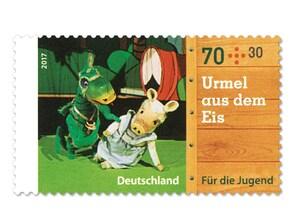 """Bild Briefmarke """"Augsburger Puppenkiste - Urmel aus dem Eis"""" 70 ct + 30 ct"""
