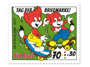 """Bild Briefmarke """"Fix und Foxi"""", 0,70 + 0,30 EUR"""