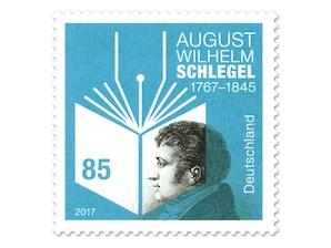 """Bild Briefmarke """"250. Geb. August Wilhelm Schlegel"""", 0,85 EUR"""