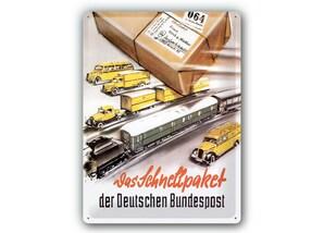 """Blechschild """"Schnellpaket"""""""