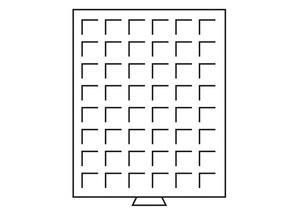 Münzenbox, transparent mit 1 Schub-Tableau, MB48