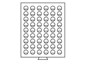 Münzenbox, transparent mit 1 Schub-Tableau, MB54R/25