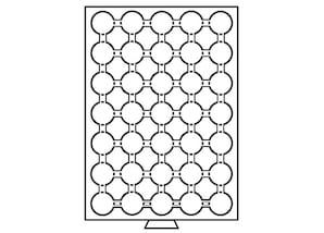 Münzenbox, transparent mit 1 Schub-Tableau, MBCAPS26