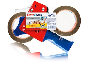 tesa 2 x Packband tesapack® braun  1 x tesapack® Handabroller, gratis