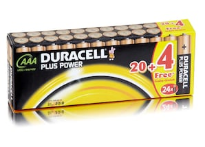 Duracell Batterien Plus Power, 20 x AAA Mignon, 1,5V Power Batterie,  4 gratis