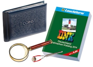 Einsteiger-Set, Lupe, Pinzette, Album und Katalog