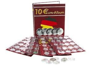 Euro-Sammel-Album für die internationalen 10-Euro-Gedenkmünzen