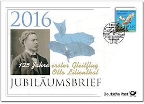 """Jubiläumsbrief """"125 Jahre erster Gleitflug Otto Lilienthal"""""""