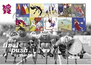 """Gedenk-Brief """"Olympische Spiele 2012 - Countdown (2011)"""""""