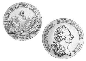 König Friedrich der Große - Sterbetaler (1786)