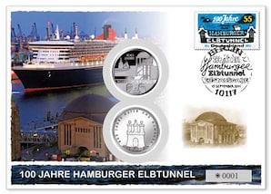 """Numisbrief: """"100 Jahre Hamburger Elbtunnel"""""""
