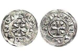 Silberdenar aus dem Münzfund von Fécamp