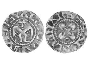 Silberdenar aus dem Bistum Valence