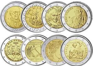 2 Euro-Gedenkmünzen-Set: San Marino