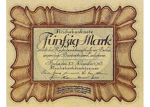 50 RM Banknote (1918)