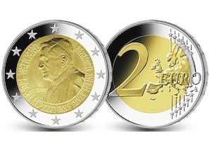 2 EUR-Gedenkmünze Vatikan: 80. Geburtstag von Papst Benedikt XVI.