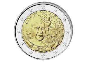 2 EUR-Gedenkmünze San Marino: 500. Todestag von Christoph Kolumbus