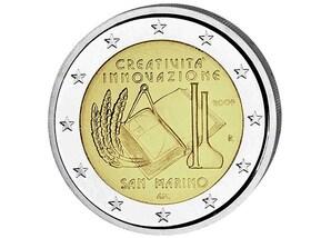 2 EUR-Gedenkmünze San Marino: Europ. Jahr der Kreativität u Innovation
