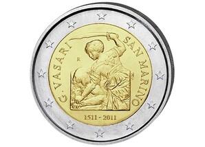 2 EUR-Gedenkmünze San Marino: 500. Geburtstag von Giorgio Vasari