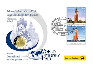 "Gedenkbrief World-Money-Fair: ""Bremen"" 2010"
