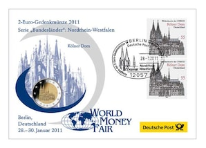 "Gedenkbrief World-Money-Fair: ""Nordrhein-Westfalen"" 2011"
