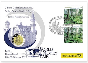 "Gedenkbrief World-Money-Fair: ""Bayern"" 2012"
