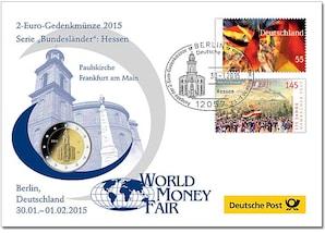 """Gedenkbrief World-Money-Fair: """"Hessen"""" 2015"""